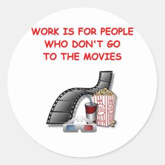 movies round sticker