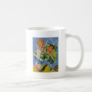 Movin' On Blue Sky Caricature Coffee Mug