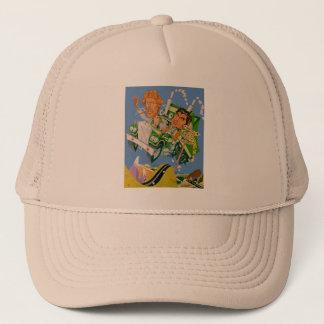 Movin' On Blue Sky Caricature Trucker Hat