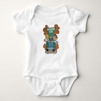 Movin' On Kiddie Caricature Baby Bodysuit