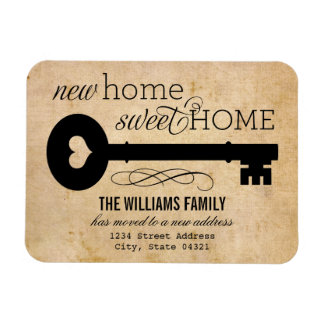 Moving Announcements   New Home Sweet Home Magnet