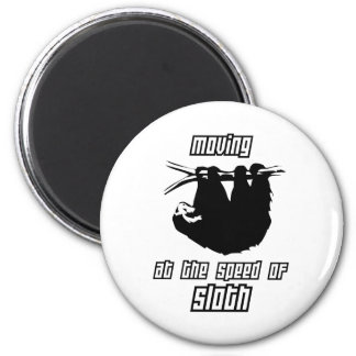 Moving at the Speed of Sloth 2 Inch Round Magnet
