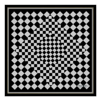 Moving Black and Silver Picture Poster