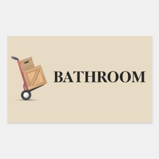 Moving Box Label - Bathroom