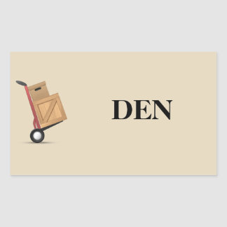 Moving Box Label - Den
