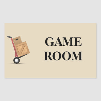 Moving Box Label - Game Room