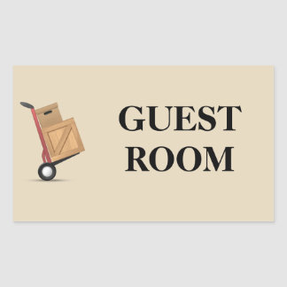 Moving Box Label - Guest Room