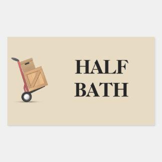 Moving Box Label - Half Bath