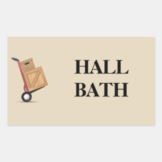 Moving Box Label - Hall Bath
