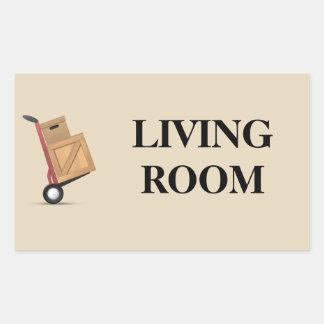 Moving Box Label - Living Room