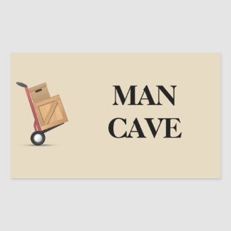 Moving Box Label - Man Cave