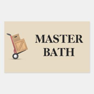 Moving Box Label - Master Bath