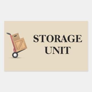 Moving Box Label - Storage Unit