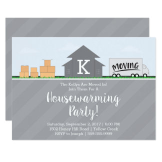 Moving Boxes Housewarming Party Invitation
