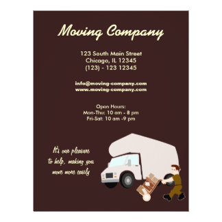 moving company personalized flyer. Black Bedroom Furniture Sets. Home Design Ideas
