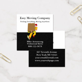 Moving Company Mover Box Square Business Card