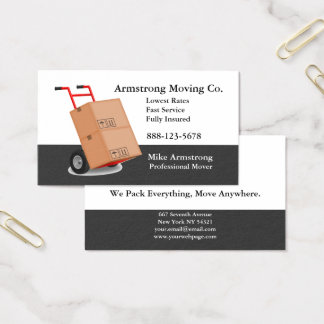 Moving Company Mover Dolly Cart Business Card