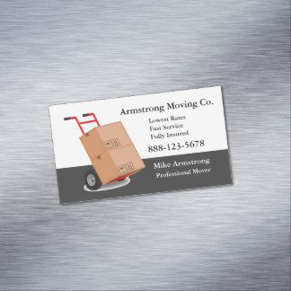Moving Company Mover Dolly Cart Business Card Magnet
