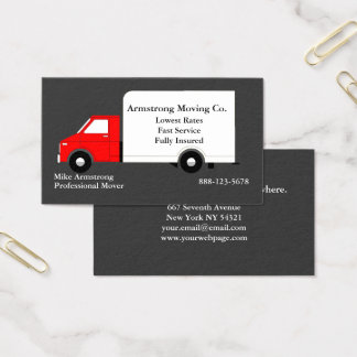 Moving Company Moving Truck Mover Business Card