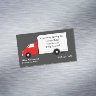Moving Company Moving Truck Mover Business Card Magnet