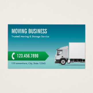 Moving Company Professional Blue Business Card