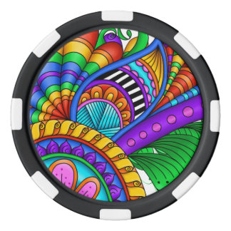 Moving Fast Set Of Poker Chips