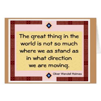 Moving Forward Card