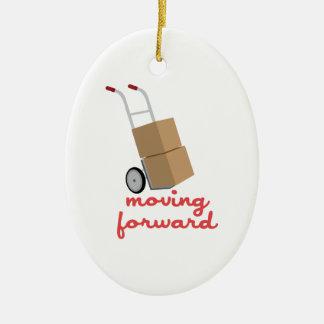 Moving Forward Ceramic Ornament