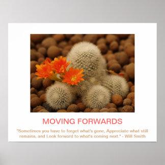 MOVING FORWARDS demotivational poster