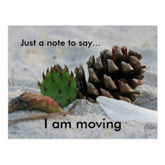 moving, Just a note to ... Postcard