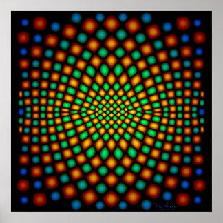 Moving Snake Skin Optical Illusion Poster