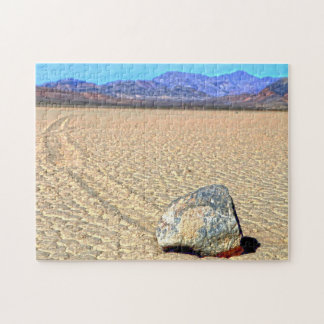 Moving Stones Death Valley California. Jigsaw Puzzle