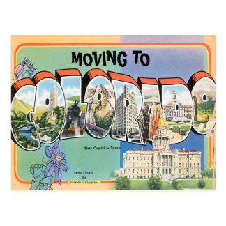 Moving to Colorado Vintage Change of Address Postcard