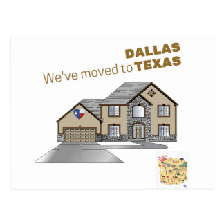 Moving to Dallas Texas Postcard