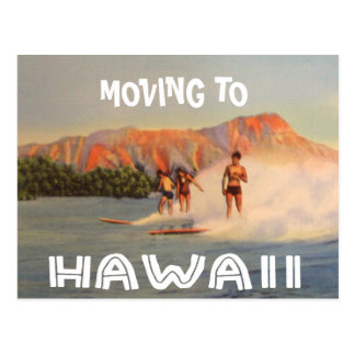Moving to Hawaii Vintage Change of Address Postcard