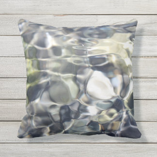 Moving Water Outdoor Pillow