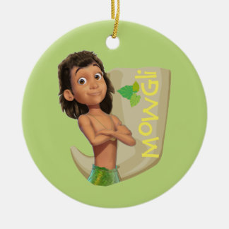 Mowgli 1 round ceramic ornament