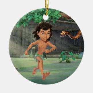 Mowgli 3 ceramic ornament
