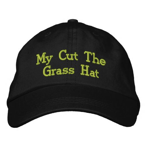 Mowing The Lawn. Embroidered Hat
