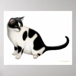 Moxie the Tuxedo Cat Print