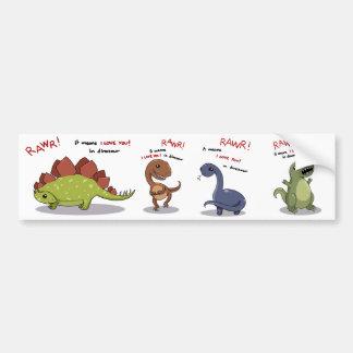 Moyens de Rawr je t'aime dans le dinosaure Autocollant De Voiture