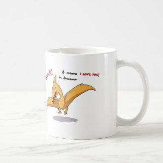 moyens mignons de rawr de dinosaure je t'aime tasse à café