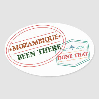 Mozambique Been There Done That Oval Sticker