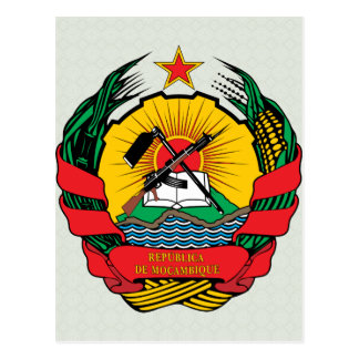 Mozambique Coat of Arms detail Post Card