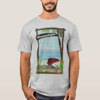 Mozambique Fishing boat cartoon vacation poster T-Shirt