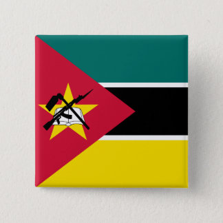 Mozambique Flag 2 Inch Square Button