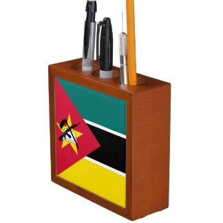 Mozambique Flag Desk Organizer
