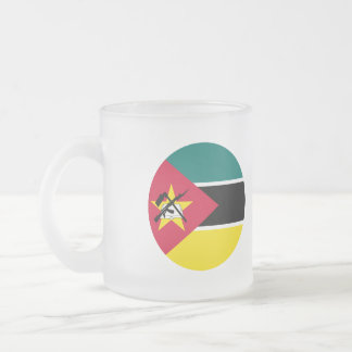 Mozambique Flag Frosted Glass Coffee Mug