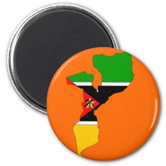 Mozambique flag map magnet