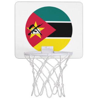 Mozambique Flag Mini Basketball Hoop